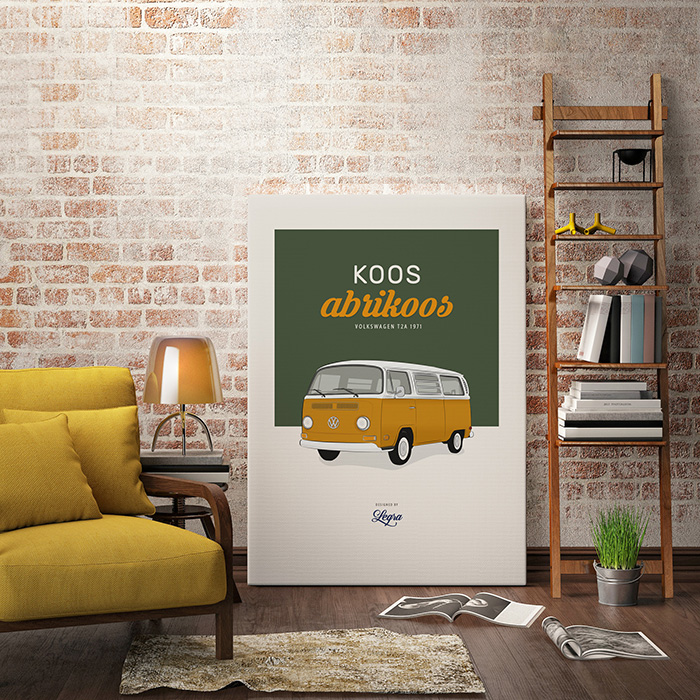 Volkswagen Transporter T2a Artwork Illustration Legra