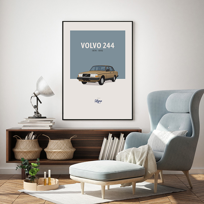 Volvo 244 artwork Legra